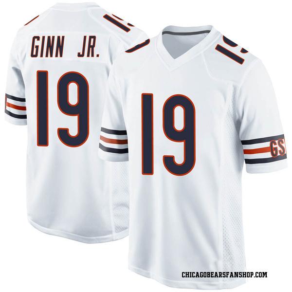 Men's Ted Ginn Jr. Chicago Bears Game White Jersey