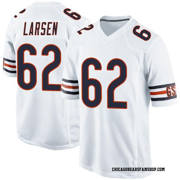 Men's Ted Larsen Chicago Bears Game White Jersey