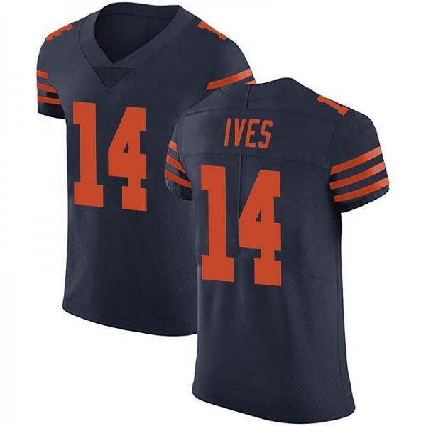 Men's Thomas Ives Chicago Bears Elite Navy Blue Alternate Vapor Untouchable Jersey