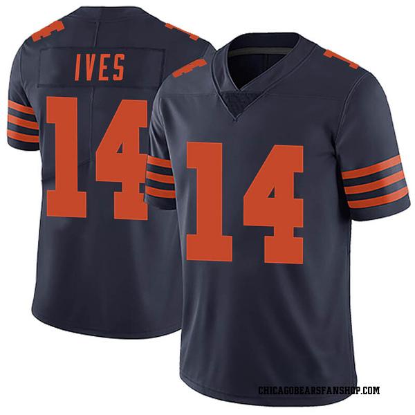 Men's Thomas Ives Chicago Bears Limited Navy Blue Alternate Vapor Untouchable Jersey