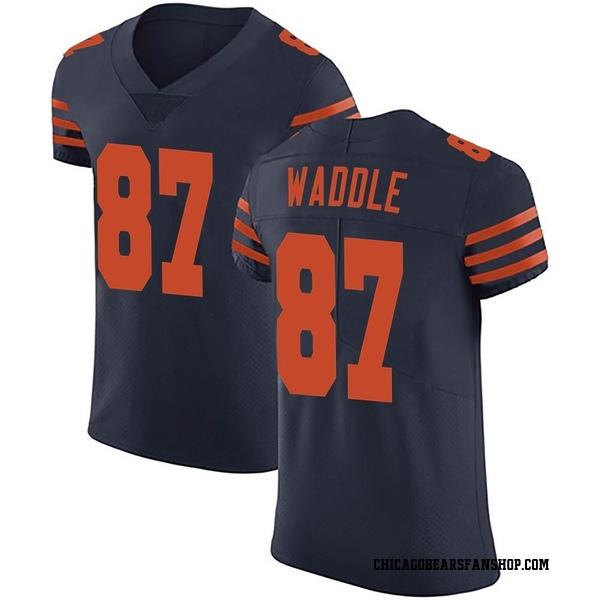 Men's Tom Waddle Chicago Bears Elite Navy Blue Alternate Vapor Untouchable Jersey