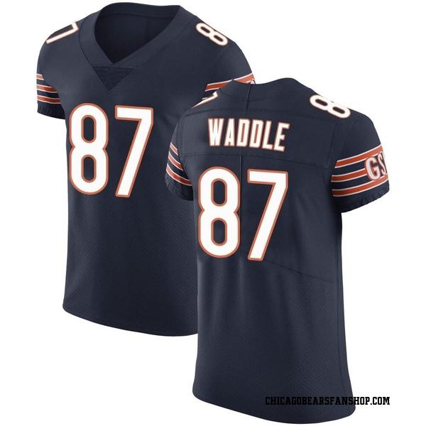 Men's Tom Waddle Chicago Bears Elite Navy Team Color Vapor Untouchable Jersey