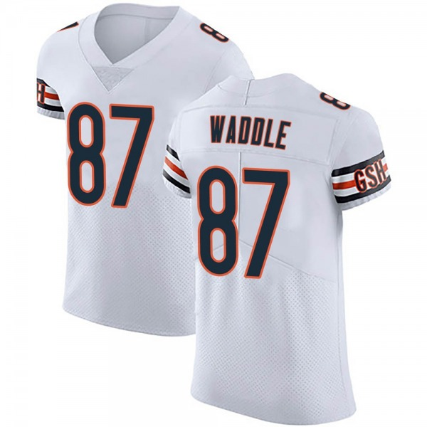 Men's Tom Waddle Chicago Bears Elite White Vapor Untouchable Jersey