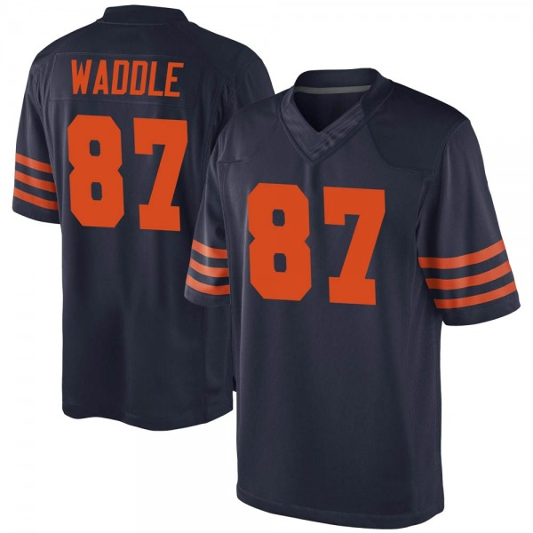 Men's Tom Waddle Chicago Bears Game Navy Blue Alternate Jersey