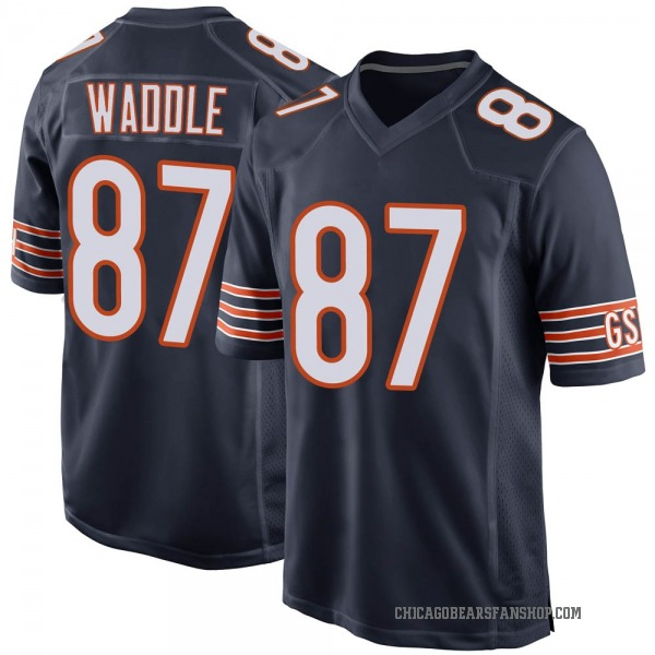 Men's Tom Waddle Chicago Bears Game Navy Team Color Jersey