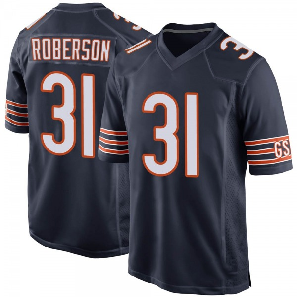 Men's Tre Roberson Chicago Bears Game Navy Team Color Jersey