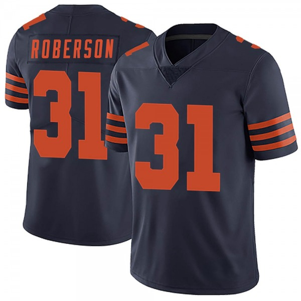 Men's Tre Roberson Chicago Bears Limited Navy Blue Alternate Vapor Untouchable Jersey
