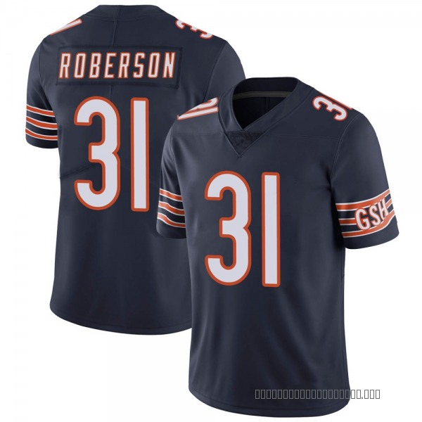 Men's Tre Roberson Chicago Bears Limited Navy Team Color Vapor Untouchable Jersey