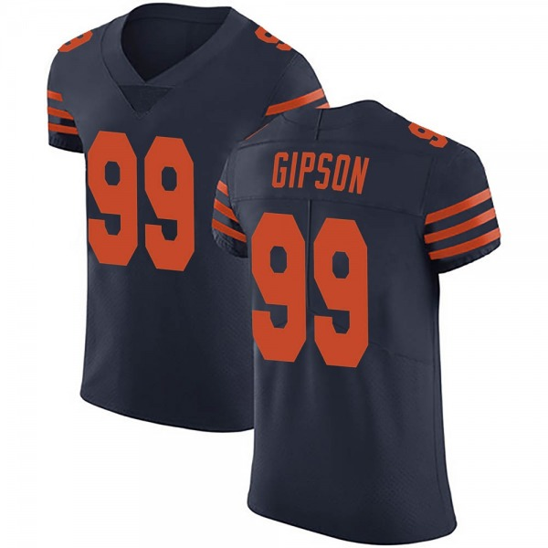 Men's Trevis Gipson Chicago Bears Elite Navy Blue Alternate Vapor Untouchable Jersey