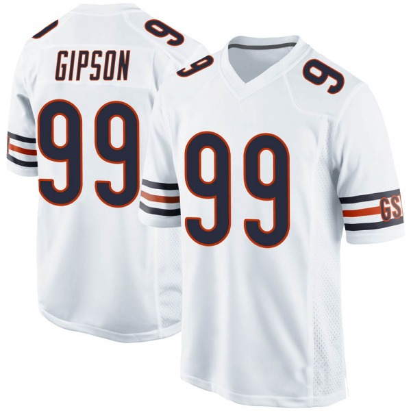 Men's Trevis Gipson Chicago Bears Game White Jersey