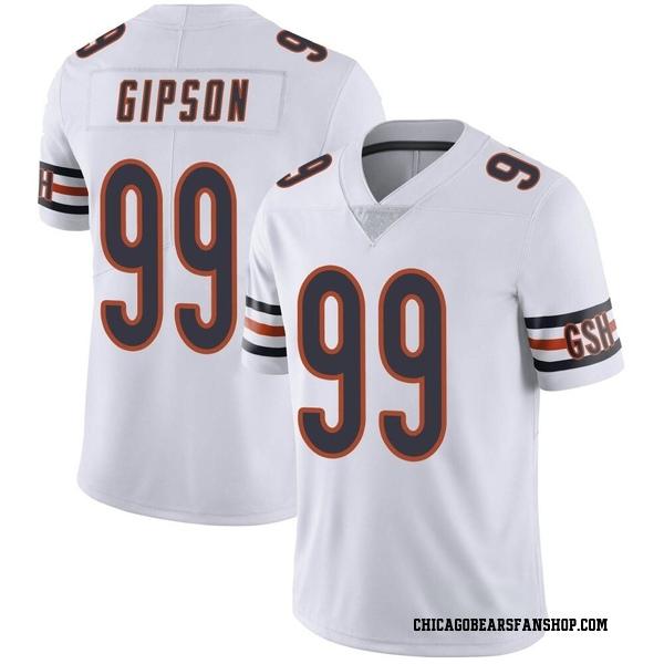 Men's Trevis Gipson Chicago Bears Limited White Vapor Untouchable Jersey