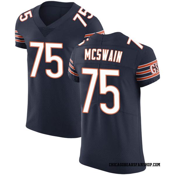 Men's Trevon McSwain Chicago Bears Elite Navy Team Color Vapor Untouchable Jersey