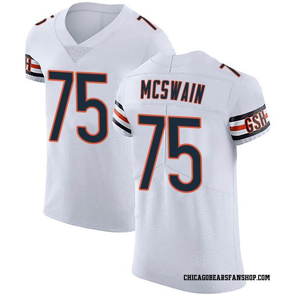Men's Trevon McSwain Chicago Bears Elite White Vapor Untouchable Jersey