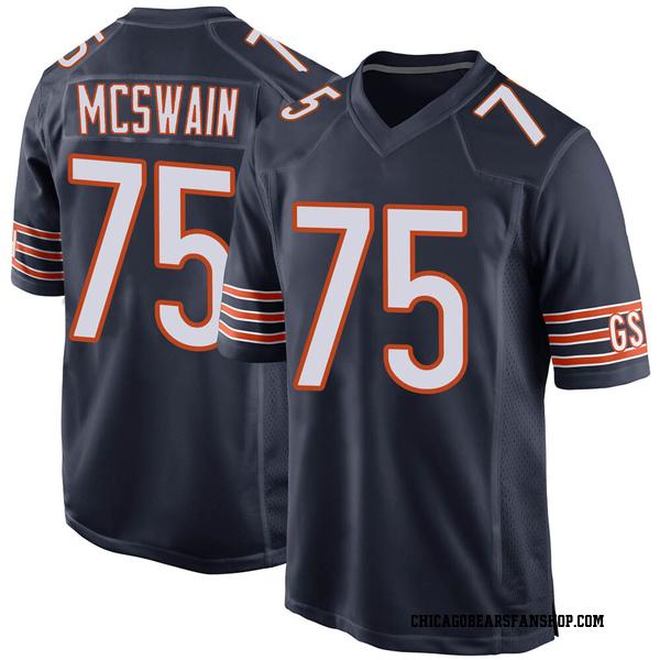 Men's Trevon McSwain Chicago Bears Game Navy Team Color Jersey
