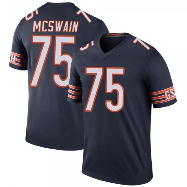 Men's Trevon McSwain Chicago Bears Legend Navy Color Rush Jersey