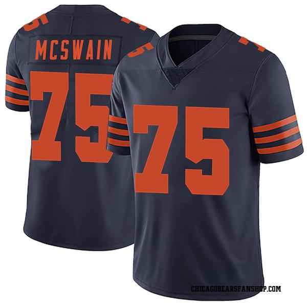 Men's Trevon McSwain Chicago Bears Limited Navy Blue Alternate Vapor Untouchable Jersey