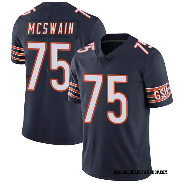 Men's Trevon McSwain Chicago Bears Limited Navy Team Color Vapor Untouchable Jersey