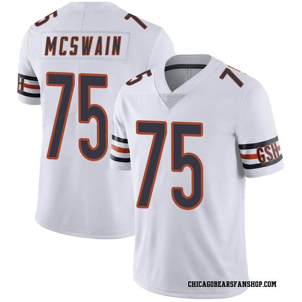 Men's Trevon McSwain Chicago Bears Limited White Vapor Untouchable Jersey