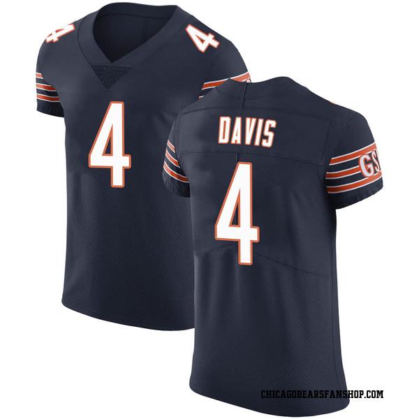 Men's Trevor Davis Chicago Bears Elite Navy Team Color Vapor Untouchable Jersey
