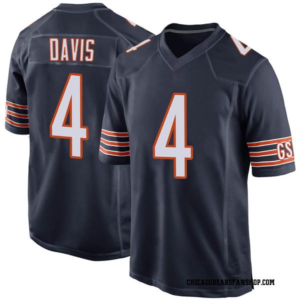 Men's Trevor Davis Chicago Bears Game Navy Team Color Jersey