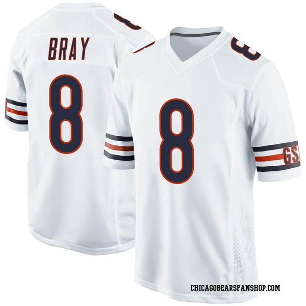 Men's Tyler Bray Chicago Bears Game White Jersey