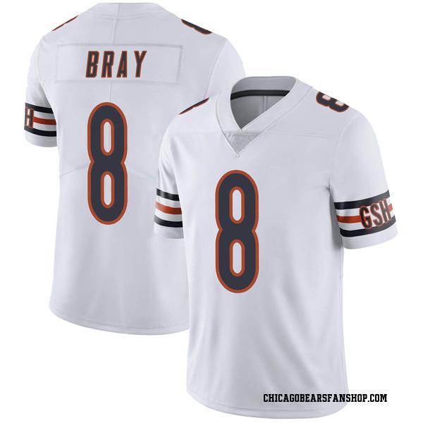 Men's Tyler Bray Chicago Bears Limited White Vapor Untouchable Jersey