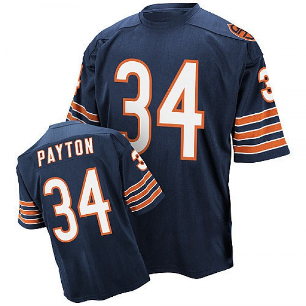 Men's Walter Payton Chicago Bears Authentic Blue Mitchell And Ness Team Color Throwback Jersey