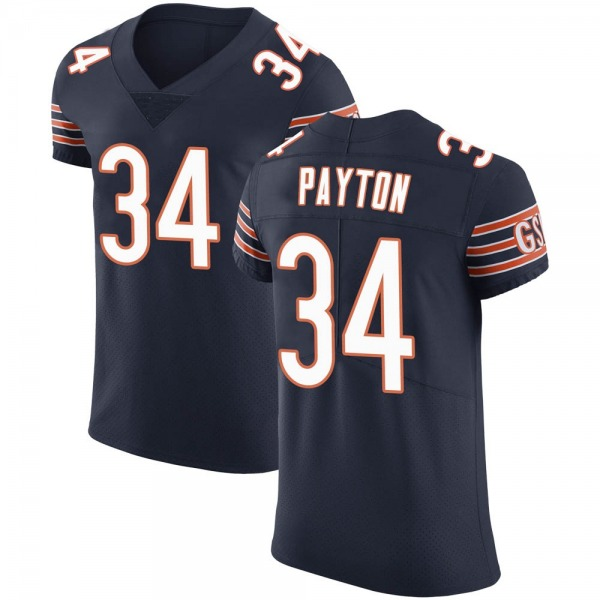 Men's Walter Payton Chicago Bears Elite Navy Team Color Vapor Untouchable Jersey