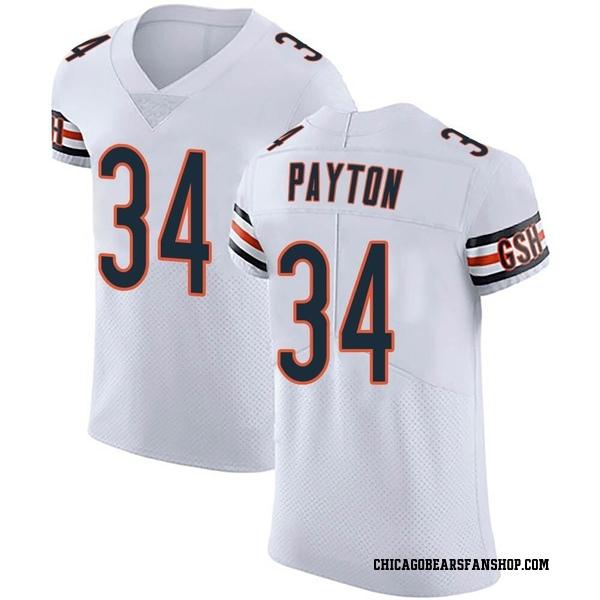 Men's Walter Payton Chicago Bears Elite White Vapor Untouchable Jersey