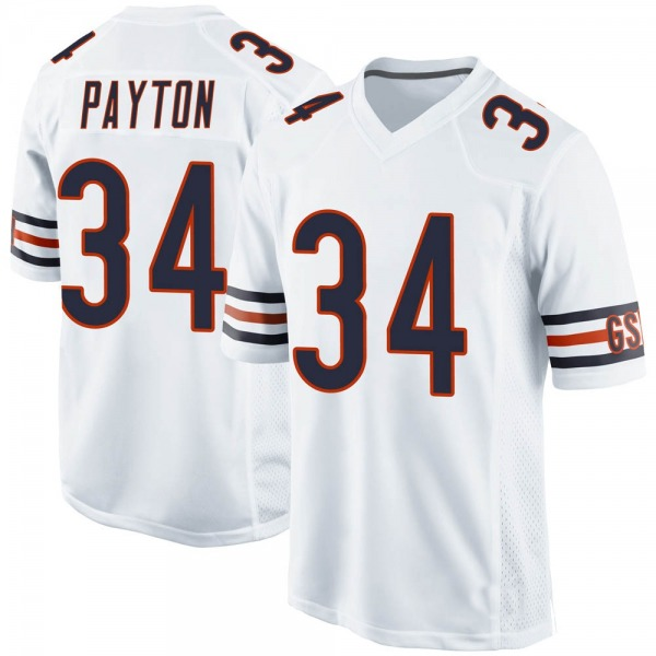 Men's Walter Payton Chicago Bears Game White Jersey