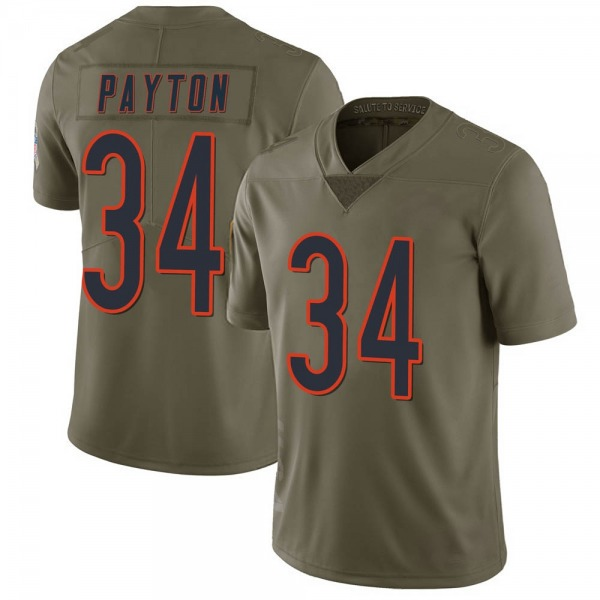 Men's Walter Payton Chicago Bears Limited Green 2017 Salute to Service Jersey