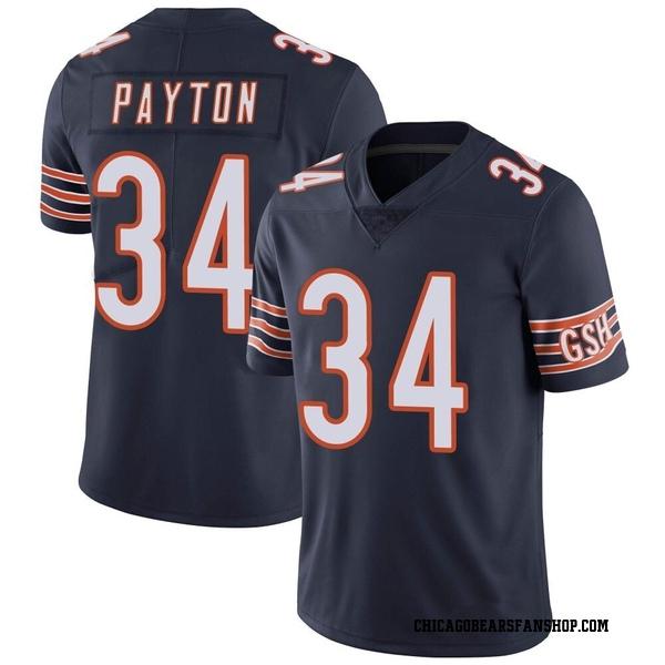 Men's Walter Payton Chicago Bears Limited Navy Team Color Vapor Untouchable Jersey