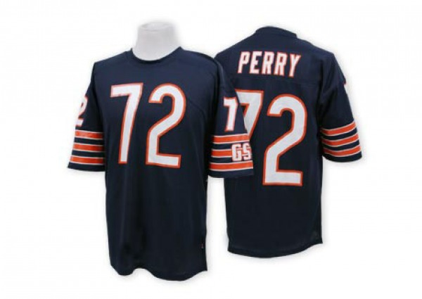 Men's William Perry Chicago Bears Authentic Blue Mitchell And Ness Team Color Throwback Jersey