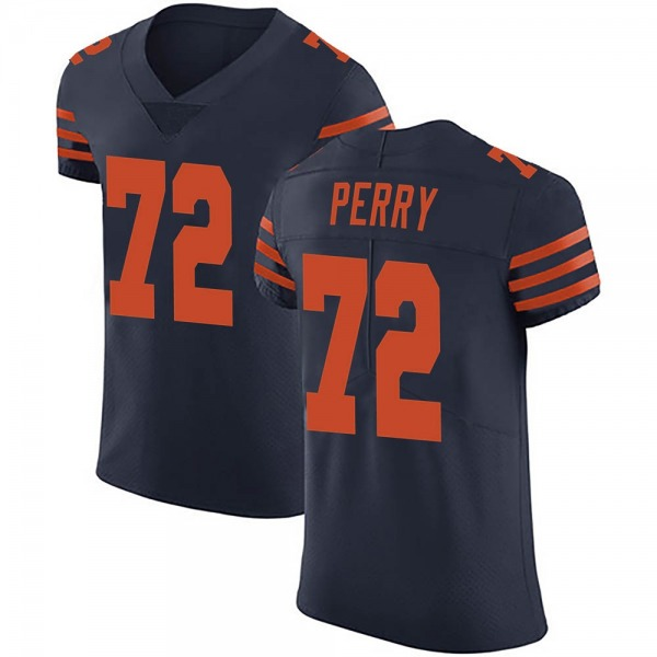 Men's William Perry Chicago Bears Elite Navy Blue Alternate Vapor Untouchable Jersey