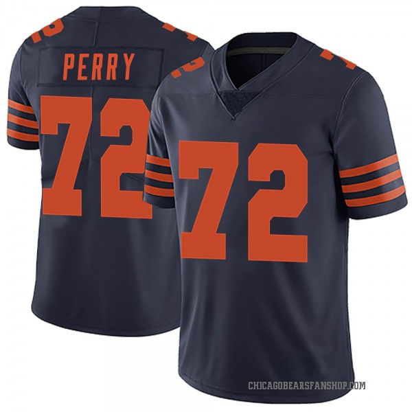 Men's William Perry Chicago Bears Limited Navy Blue Alternate Vapor Untouchable Jersey