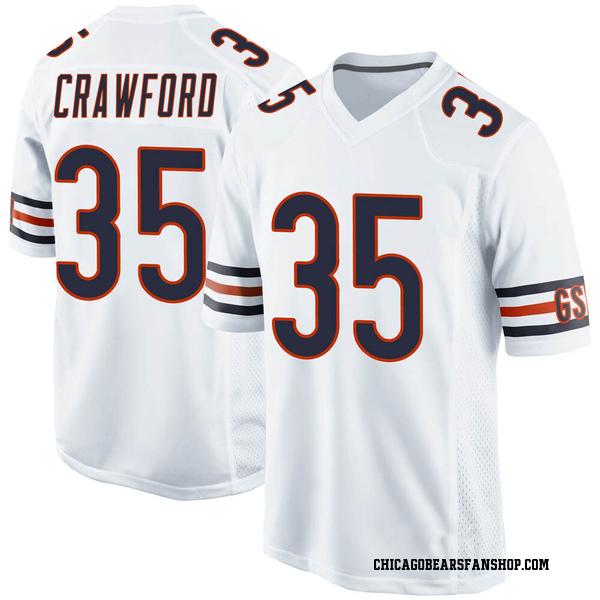 Men's Xavier Crawford Chicago Bears Game White 100th Season Jersey