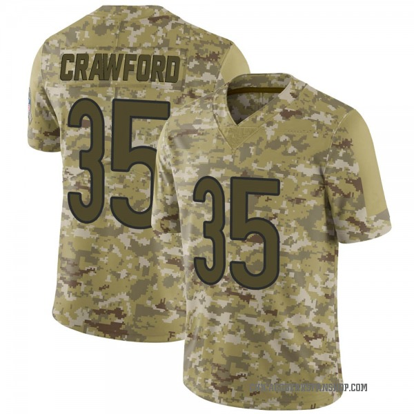 Men's Xavier Crawford Chicago Bears Limited Camo 2018 Salute to Service Jersey