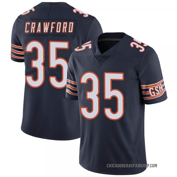 Men's Xavier Crawford Chicago Bears Limited Navy Team Color Vapor Untouchable Jersey