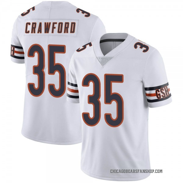 Men's Xavier Crawford Chicago Bears Limited White Vapor Untouchable Jersey