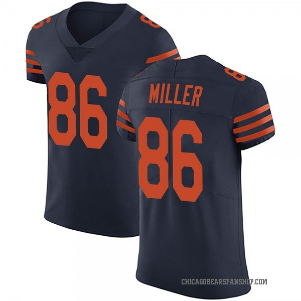 Men's Zach Miller Chicago Bears Elite Navy Blue Alternate Vapor Untouchable Jersey