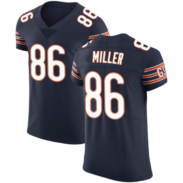 Men's Zach Miller Chicago Bears Elite Navy Team Color Vapor Untouchable Jersey