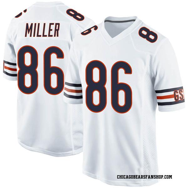 Men's Zach Miller Chicago Bears Game White 100th Season Jersey