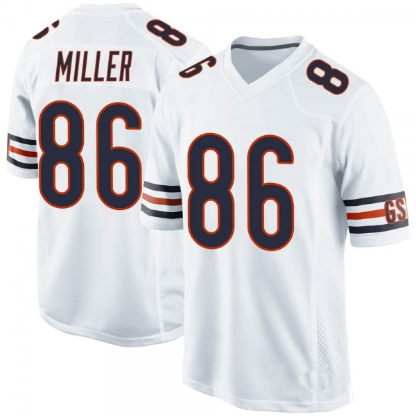 Men's Zach Miller Chicago Bears Game White Jersey