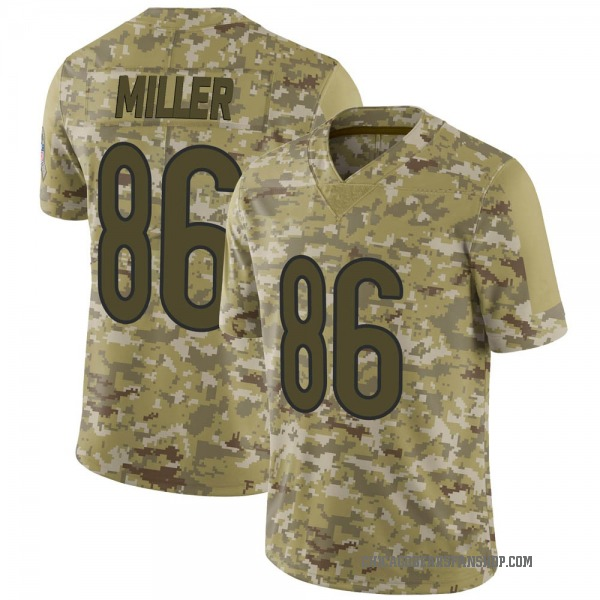 Men's Zach Miller Chicago Bears Limited Camo 2018 Salute to Service Jersey