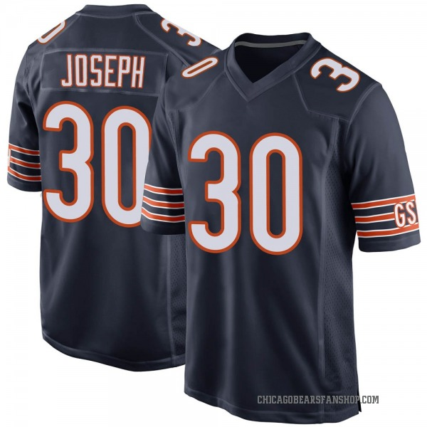 Michael Joseph Chicago Bears Game Navy Team Color Jersey