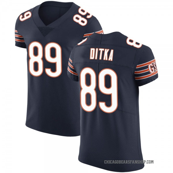 Mike Ditka Chicago Bears Elite Navy Team Color Vapor Untouchable Jersey