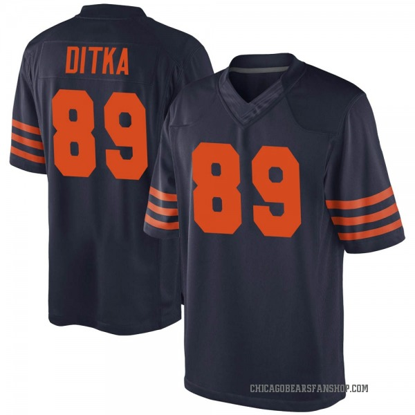 Mike Ditka Chicago Bears Game Navy Blue Alternate Jersey