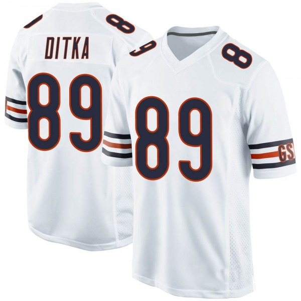 Mike Ditka Chicago Bears Game White Jersey