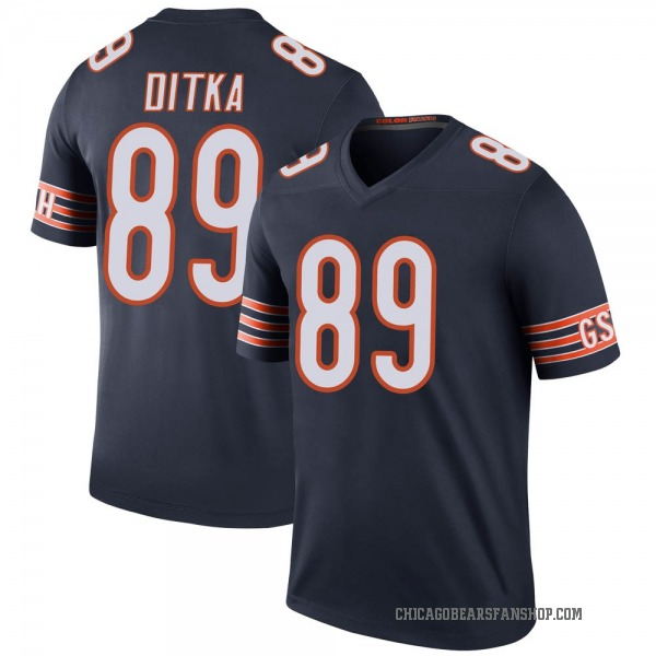 Mike Ditka Chicago Bears Legend Navy Color Rush Jersey