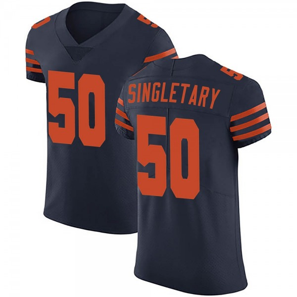 Mike Singletary Chicago Bears Elite Navy Blue Alternate Vapor Untouchable Jersey